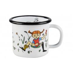 Pippi Enamel Mug 0.15 L White Pippi and Mr Nilsson