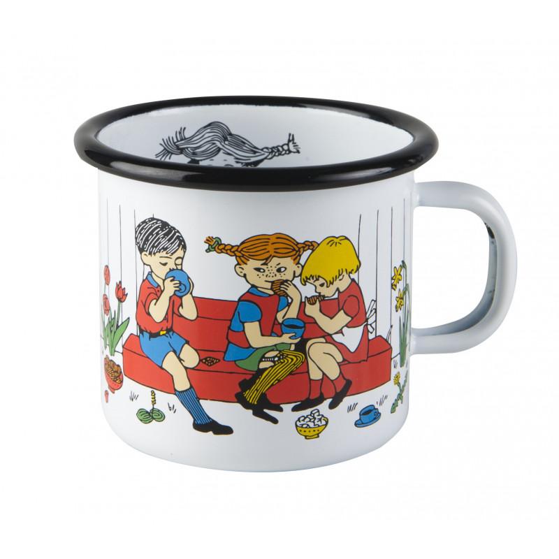 PippiEnamel Mug 0.25 L White Cup Of Coffee