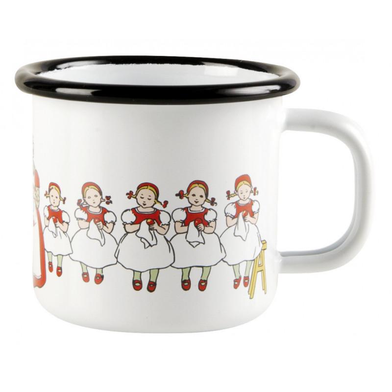 Elsa Beskow Enamel Mug 0.15 L Lingonberries