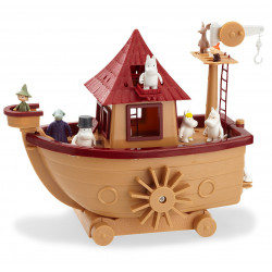 Moomin Plastic Boat and 9 Figures