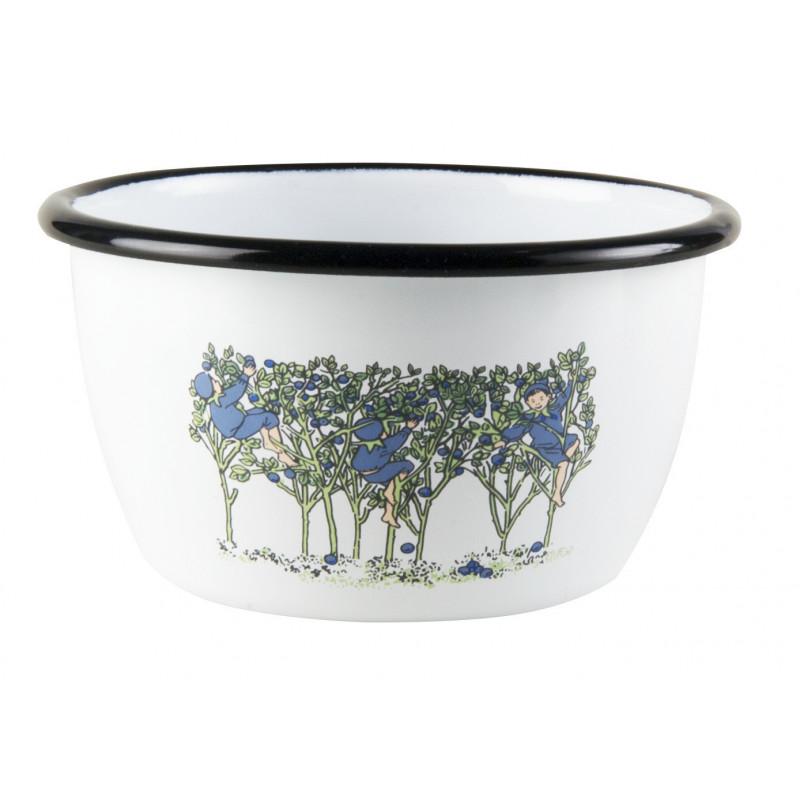 Elsa Beskow Enamel Bowl 0.3 L Blueberries