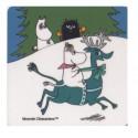 Moomin Coaster Snorkmaiden and Reindeer 9 x 9 cm