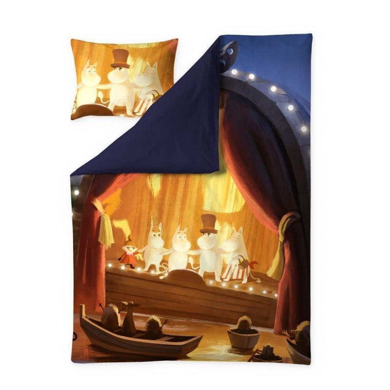 Moomin Animation Summer in Moominvalley Sateen Duvet Cover Pillowcase 150 x 210 cm 50 x 60 cm