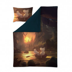 Moomin Animation Fall in Moominvalley Sateen Duvet Cover Pillowcase 150 x 210 cm 50 x 60 cm