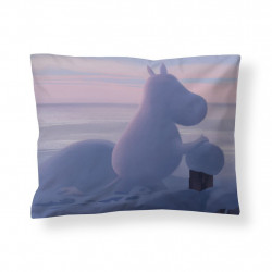 Moomin Animation Winter in Moominvalley Sateen Pillowcase 50 x 60 cm
