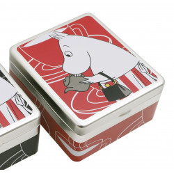 Moomin Tea Bags Tin Can Moominmamma Red