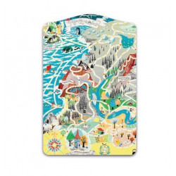 Moomin Pot Coaster Cutting Board Japan Map Playground 30 x 20 cm