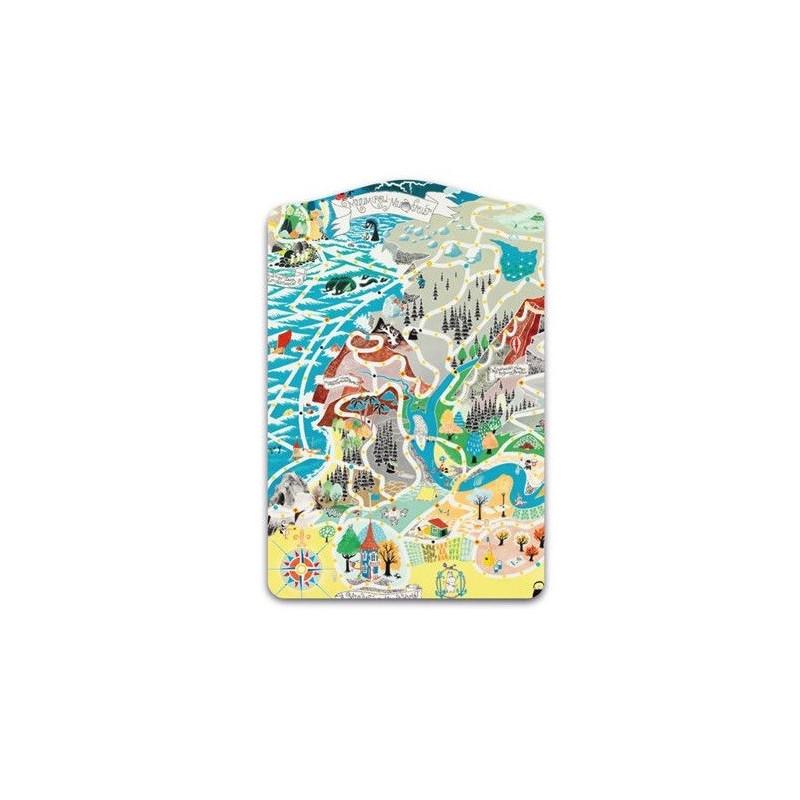 Moomin Pot Coaster Cutting Board Japan Map Playground 30 x 20 cm