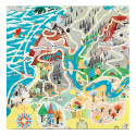 Moomin Paper Napkins Japan Map Playground 33 x 33 cm