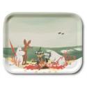 Moomin Birch Tray Beach Picnic Bonnier 27 x 20 cm