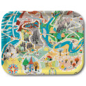 Moomin Birch Tray Japan Map Playground 43 x 33 cm