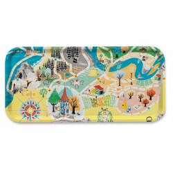 Moomin Birch Tray Japan Map Playground 53 x 32 cm