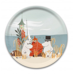 Moomin Birch Round Tray Boat On The Beach Bonnier 31 cm