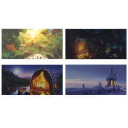 Moomin Animation Panoramic Postcards Set of 4 Putinki