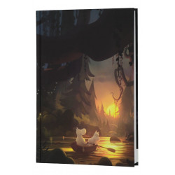 Moomin Hardcover Notebook B5 Moominvalley Summer Night