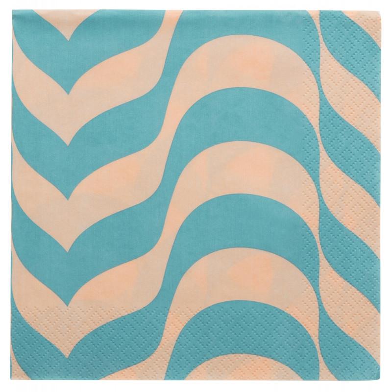 Aalto Paper Napkins Blue Powder 33 x 33 cm