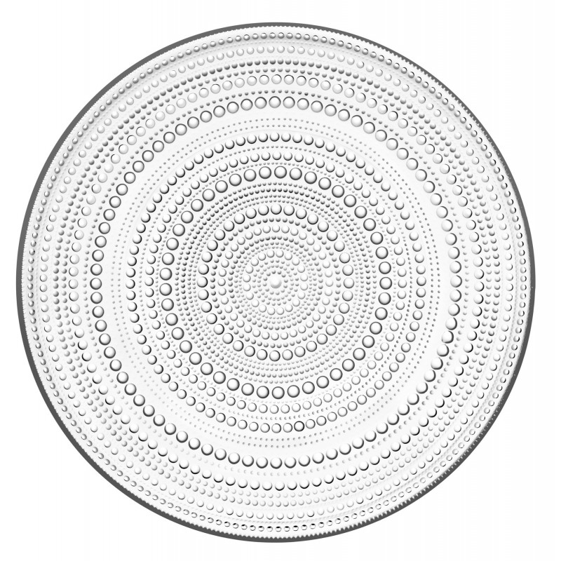 Kastehelmi Glass Serving Plate 315 mm Iittala