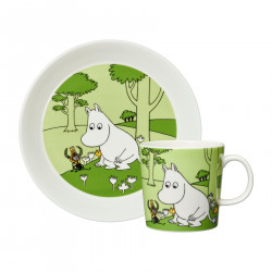 Moomin Set Gift Box Moomintroll Plate and Mug 2019
