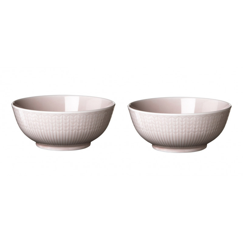 Rörstrand Swedish Grace Rose 2 x 0.30 L Bowl Set in Gift Box