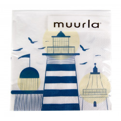 Lighthouse Paper Napkins 20 pcs 33 x 33 cm Muurla