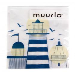 Lighthouse Paper Napkins 20 pcs 33 x 33 cm Muurla