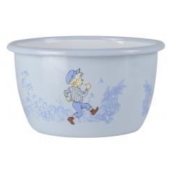Enamel Bowl Emil of Longberga Blue 0.3 L Muurla