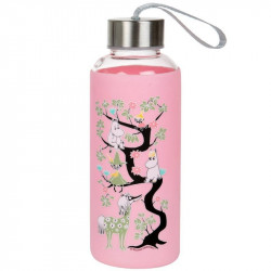 Moomin Climbing a Tree Bottle Light Pink