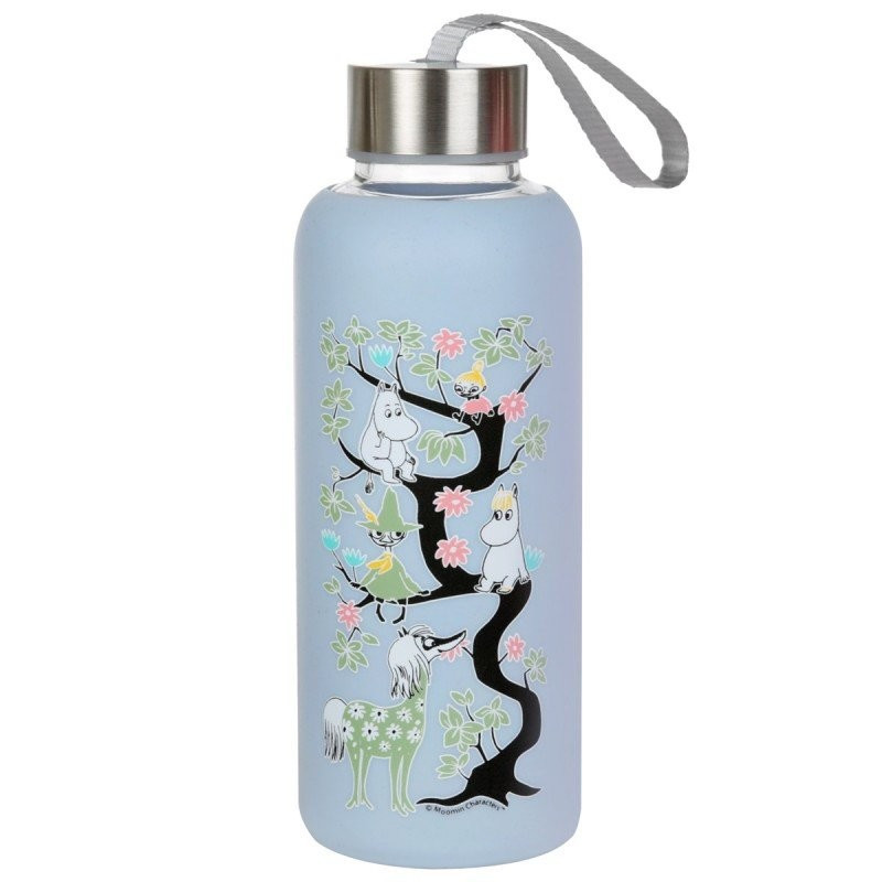 Moomin Climbing a Tree Bottle Light Blue