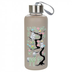 Moomin Climbing a Tree Bottle Grey