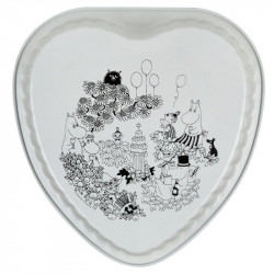 Moomin Baking Form Heart Shaped Garden