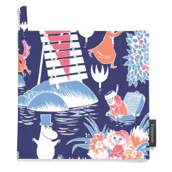 Moomin Pot Holders Magic Moomin Dark Blue 2 pcs 22 x 22 cm