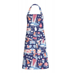 Moomin Full Size Apron Magic Moomin Dark Blue 70 x 85 cm