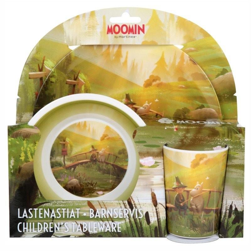 Moomin Animation Moominvalley Children Melamine Set Plate Tumbler Bowl Summer