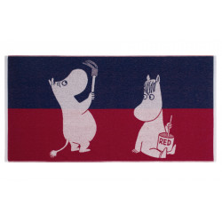 Moomin Bath Towel Paint Blue 70 x 140 cm