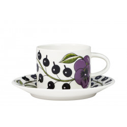 Purple Paratiisi Coffee Cup 0.18 L and Saucer 14 cm