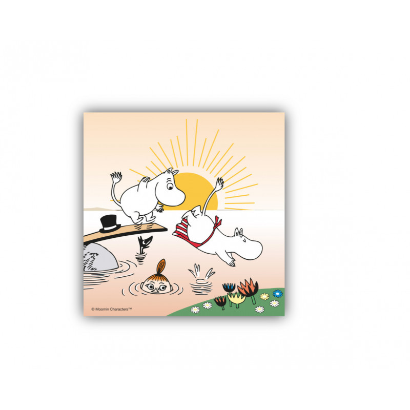 Moomin Paper Napkins Evening Swim 33 x 33 cm, 20 pcs