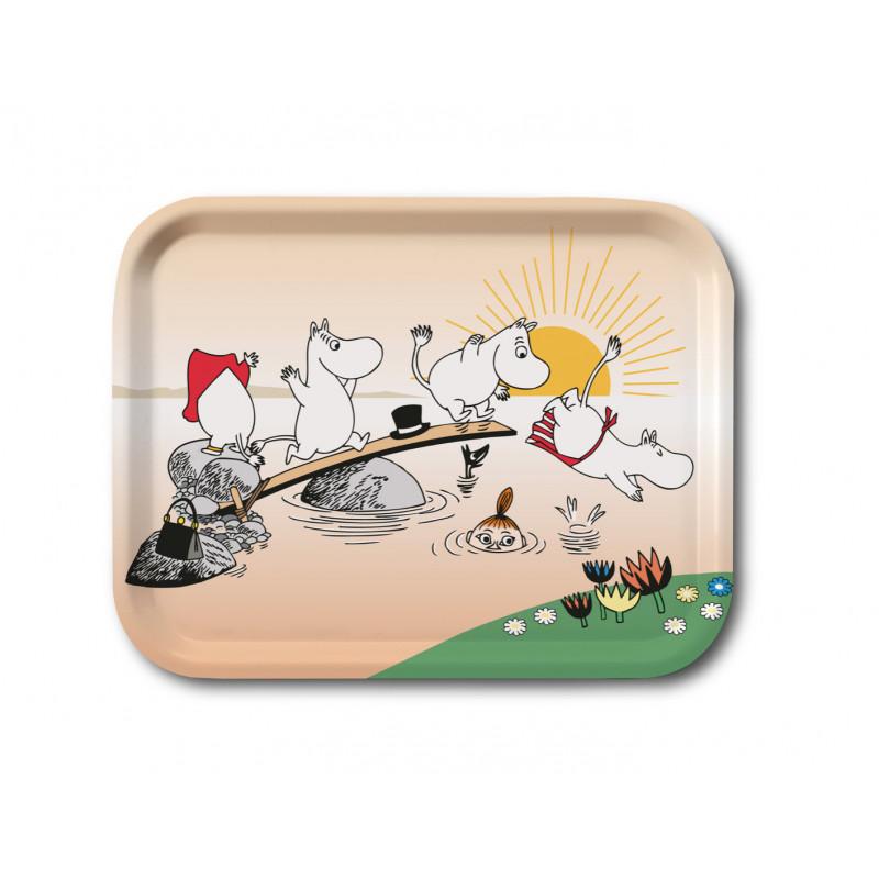 Moomin Birch Tray 27 x 20 cm Evening Swim