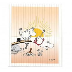 Moomin Dishcloth 18 x 12 cm Evening Swim