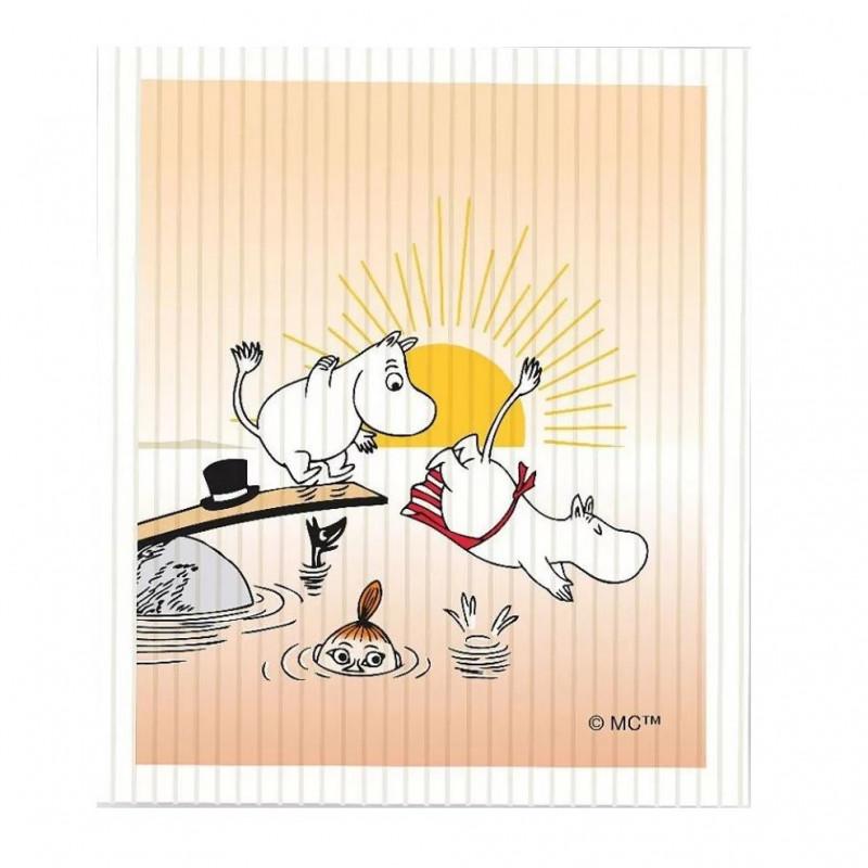 Moomin Dishcloth 17 x 20 cm Evening Swim