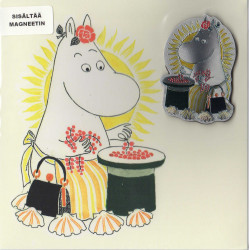 Moomin Greeting Card Moominmamma with Aluminium Magnet
