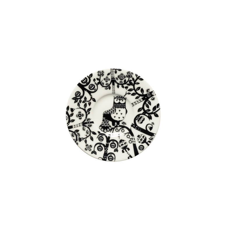 Taika Black Espresso Saucer 11 cm Iittala