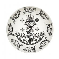 Taika Black Deco Deep Plate 20 cm Iittala