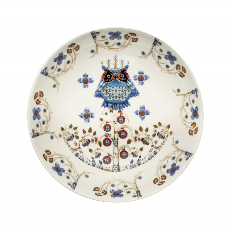 Taika White Deco Deep Plate 20 cm Iittala