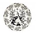 Taika Black Deco Deep Plate 22 cm Iittala
