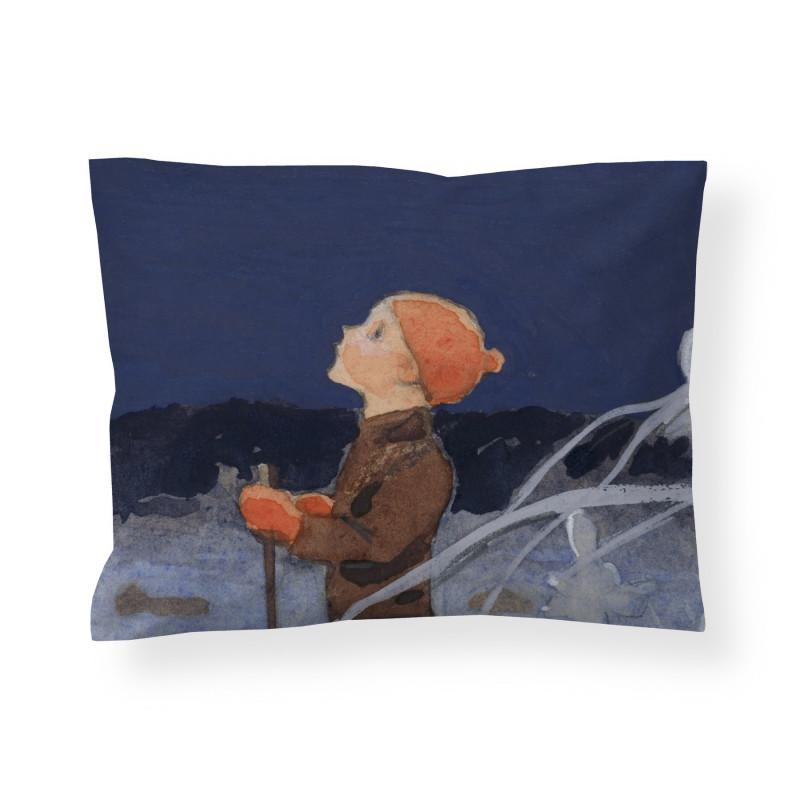 Finlayson Satin Pillowcase Boy and Star Rudolf Koivu 50 x 60 cm