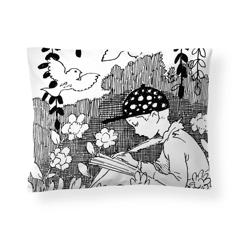 Finlayson Satin Pillowcase Forest Summer Rudolf Koivu 50 x 60 cm