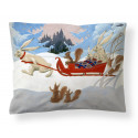 Finlayson Satin Pillowcase Organic Cotton Winter Hike Rudolf Koivu 50 x 60 cm