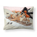 Finlayson Satin Pillowcase Organic Cotton Forest Creatures Rudolf Koivu 50 x 60 cm
