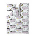 Moomin Duvet Cover Pillowcase Clouds Pink 150 x 210 cm 50 x 60 cm Finlayson
