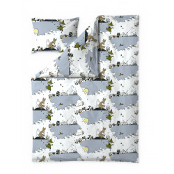 Moomin Duvet Cover Pillowcase Clouds Light Blue 150 x 210 cm 50 x 60 cm Finlayson